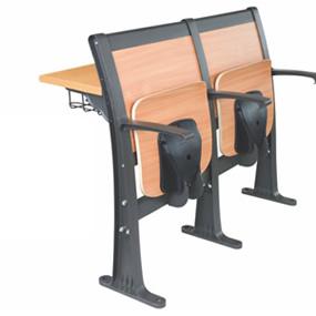 固定式寫字臺鋁合金階梯教學椅