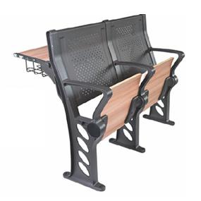 滑槽式寫字臺鋁金金階梯教學椅
