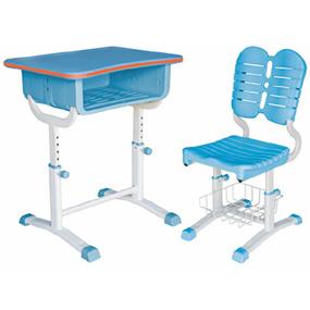 帶置物籃升降課桌椅