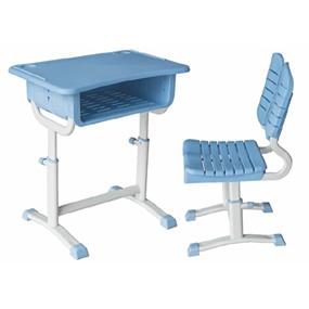 塑鋼旋鈕式升降課桌椅